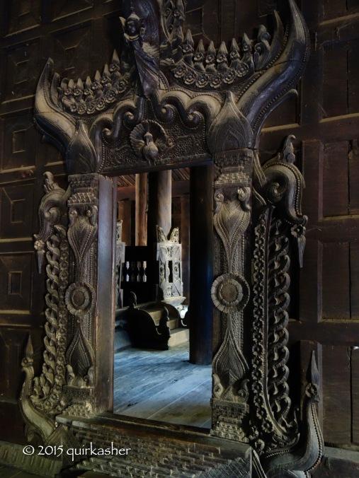 Doorway inside Bagayo Monastery