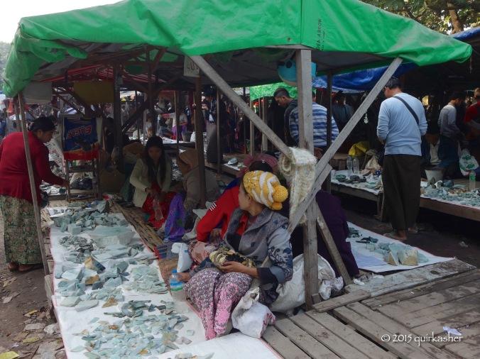 Looks like a jade scrap market