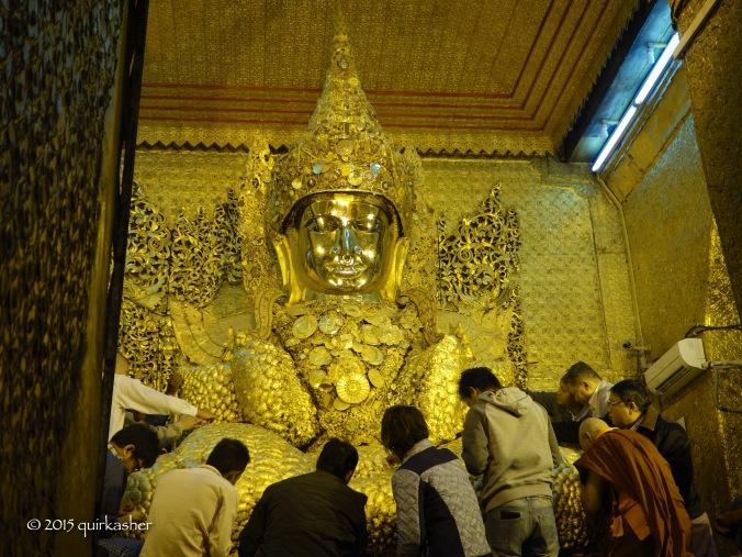 The Mahamuni Buddha image