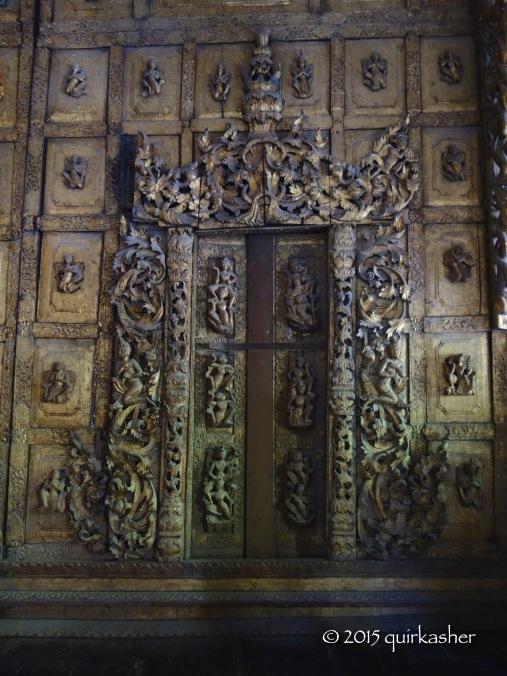 Door in Shwenandaw Monastery