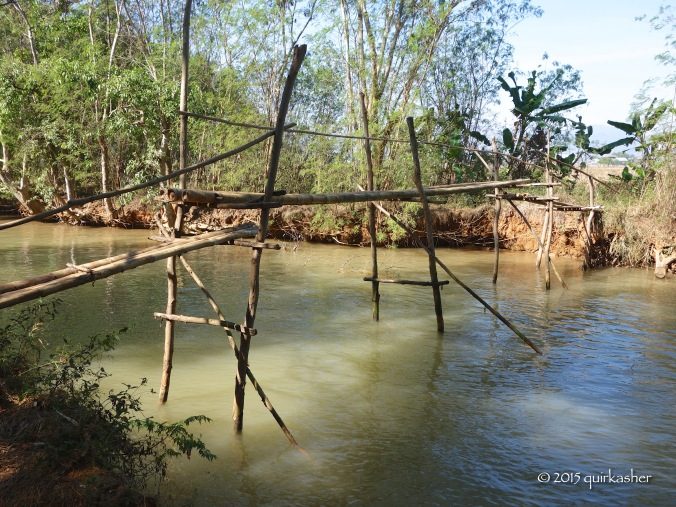 A more rudimentary bridge in the countryside