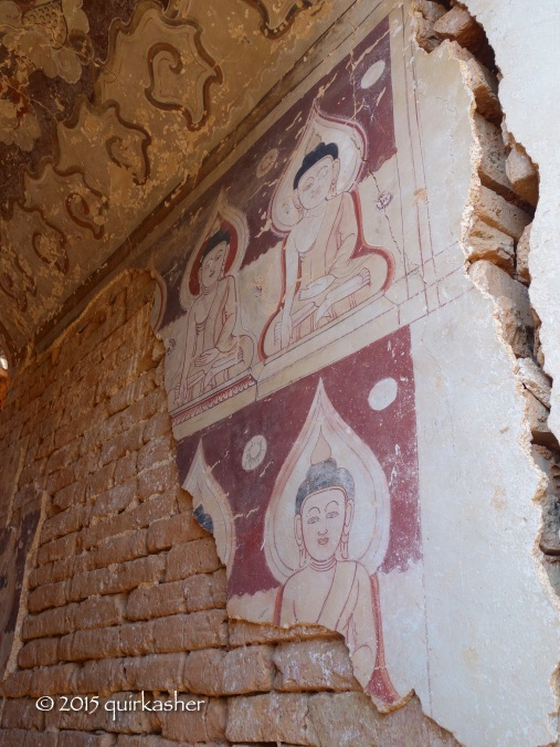 Frescoes in one of the Indein Pagodas