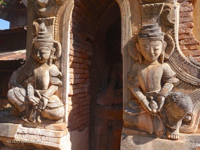 Statues at entrance