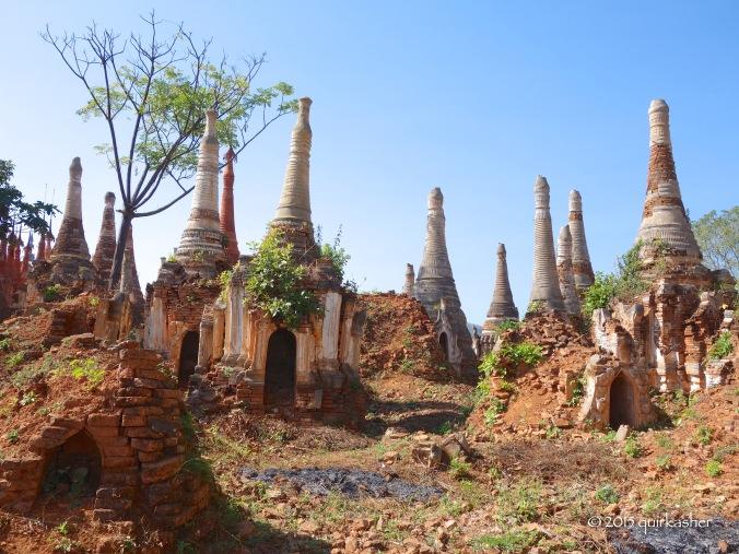 Less embellished pagodas
