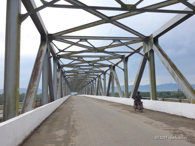 The bridge across the Kaladan River