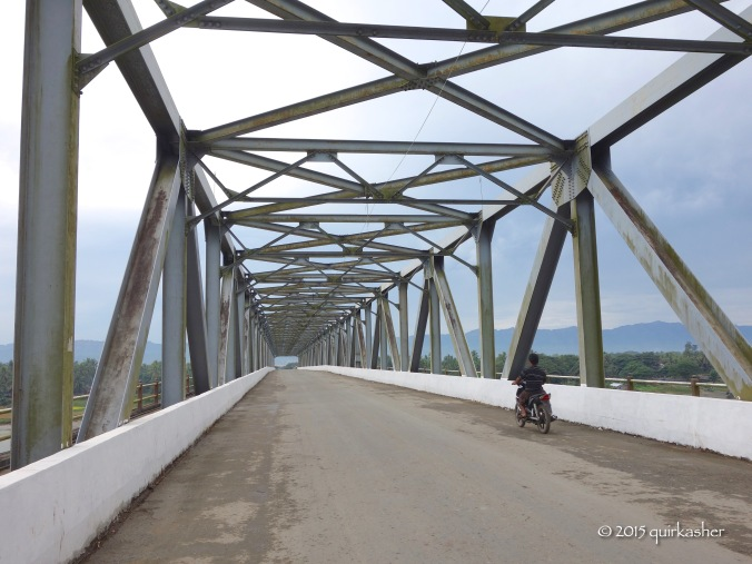 The bridge across the Kaladan River