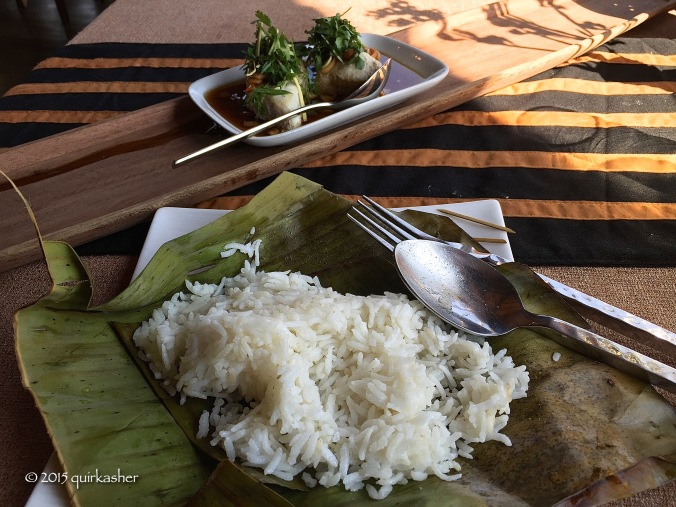 Shan butterfish dish with coconut rice