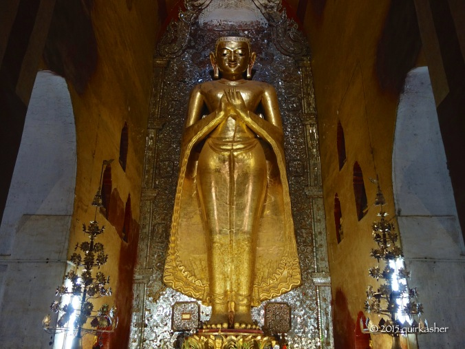 One of the Buddha statues in Ananda Temple