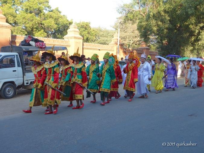 Procession of novitiation ceremony