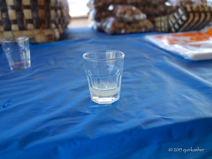 Palm wine for sampling