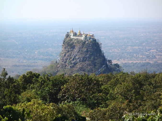 View of Taung Kalat from Mount Popa Resort
