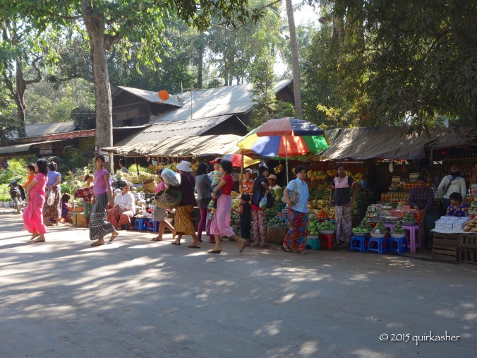 Fruit stalls at the foot of Mount Popa