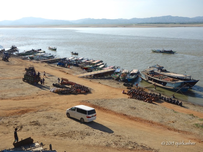 View of the Ayeyarwady from the hotel