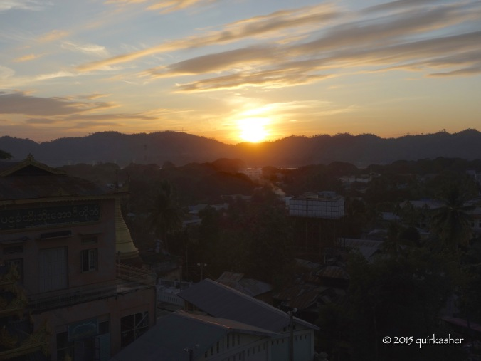Sunset in Pyay