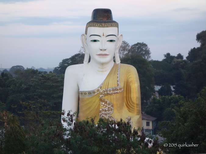 Giant Buddha statue at a neighbouring temple