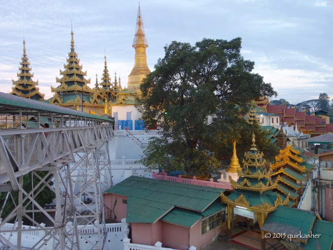 Approaching the Shwesandaw Pagoda
