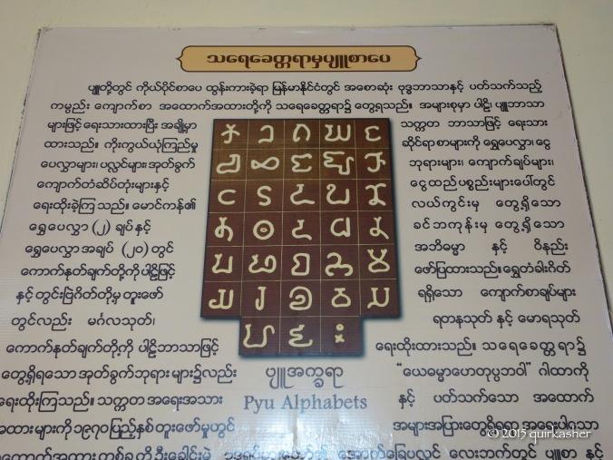 Pyu Alphabet
