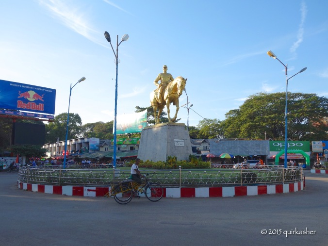 General Aung San in the centre of downtown