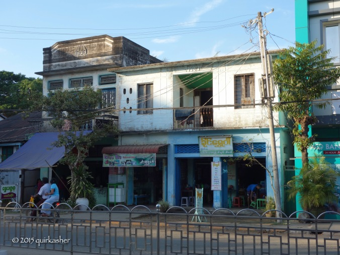 Old buildings in Pyay