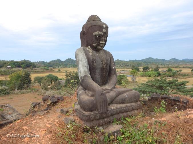 Buddha statue on the top of Pizi Phara