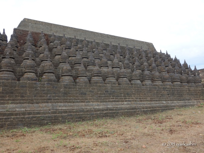 One section of stupas on Koethaung Temple