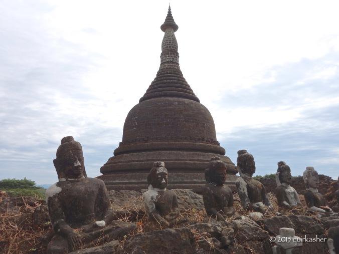 Buddha images of Koethaung Temple