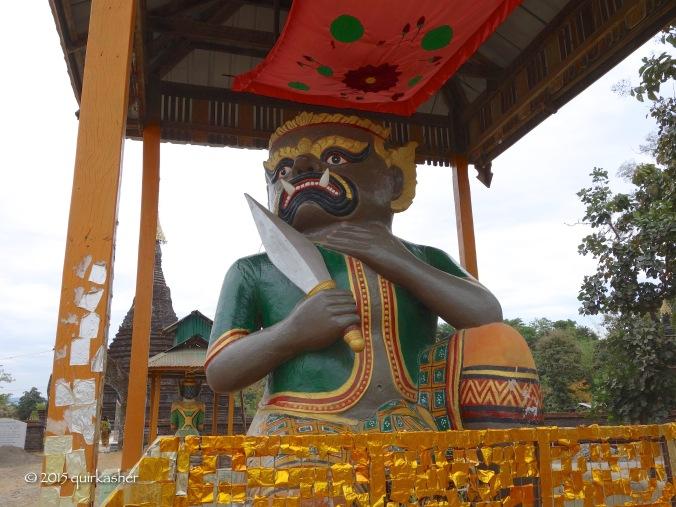 Guardian ogre of Sakya Manaung Pagoda