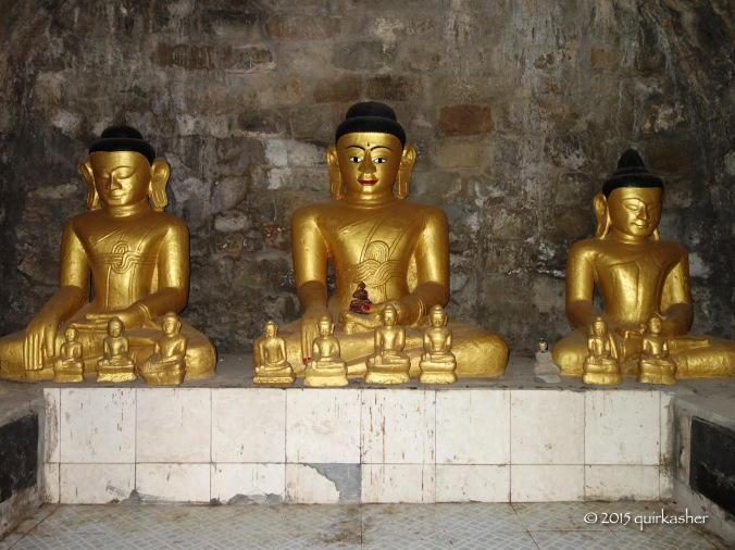 Buddha statues in the vault