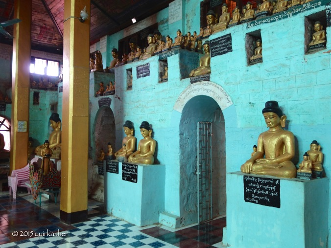 Collection of Buddha statues in Shitthaung Temple