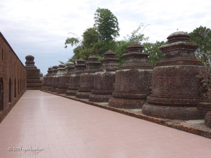 Stupas on Shitthaung Temple