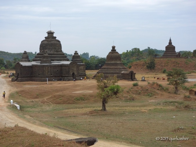 View from Htukkanthein Temple, helipad on extreme right behind the tree