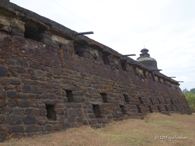 Temple wall that looks like fortress wall
