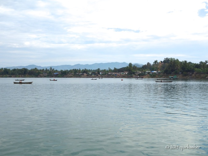 Approaching the jetty to go to market