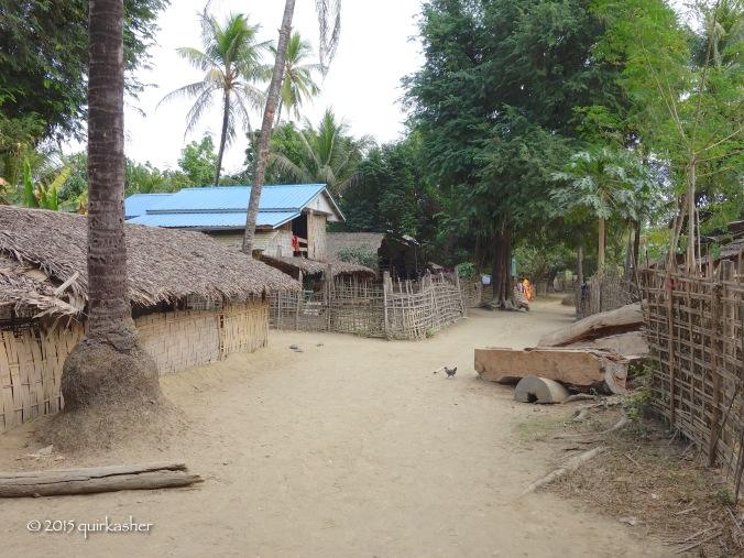 At the Chin village