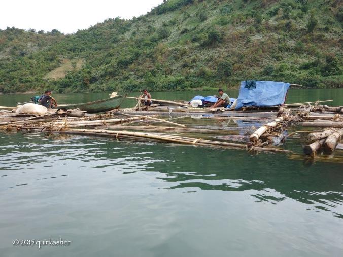 Transporting wood downstream