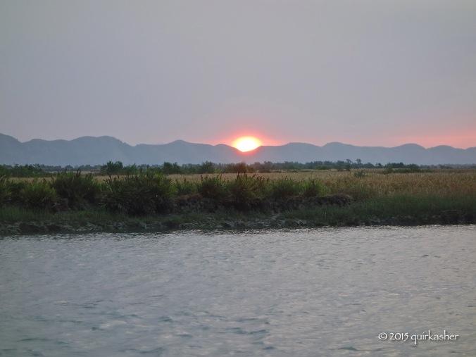 Sunrise on the Kaladan River