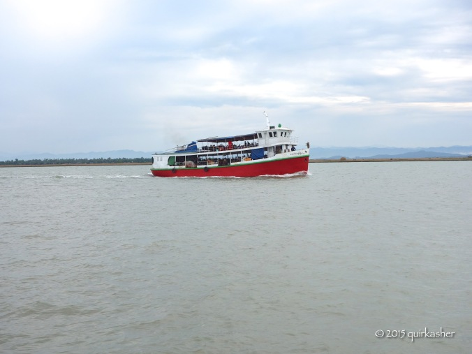 View from the Kaladan (passenger boat to Sittwe)