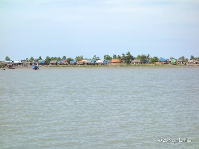 View from the Kaladan (finally reaching Sittwe)