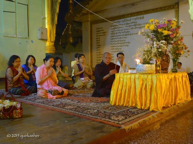 On the grounds of Shwedagon
