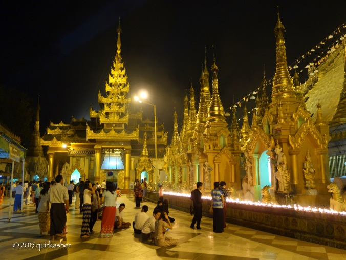 On the grounds of Shwedagon