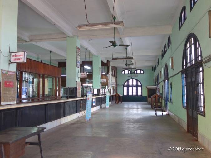 Inside the old telegraph office