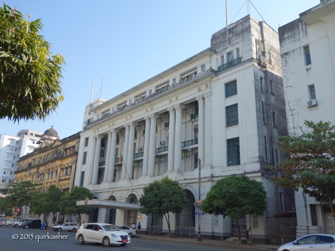Colonial building in Yangon