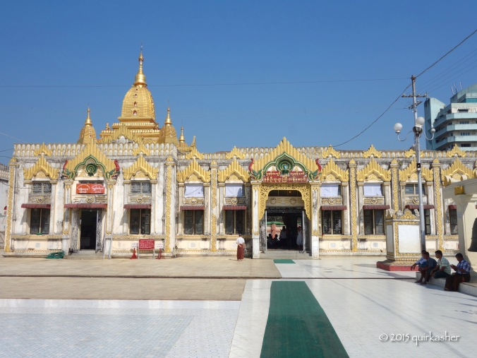 Temple on the grounds of Botataung Pagoda