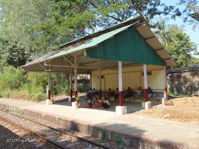 One of the train stations along the circular train route