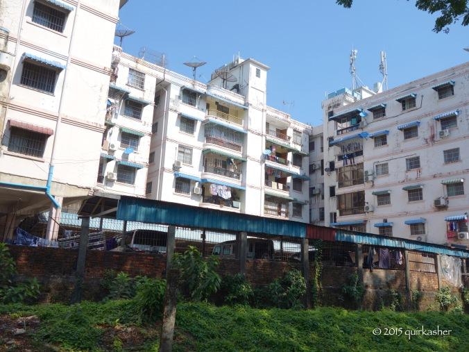 Residential buildings in Yangon