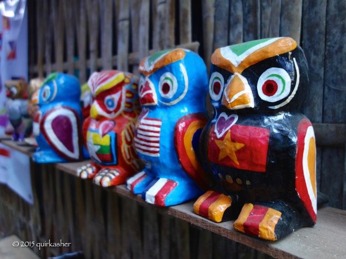 Papier mache owls