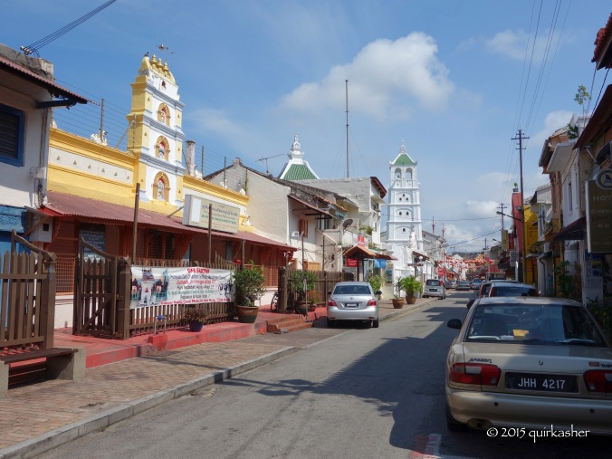 Along what they call Harmony Street because there is a Hindu temple, mosque and Chinese temple along the same street