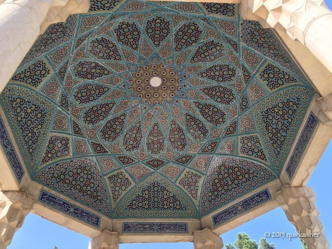 Ceiling of Hafez's tomb