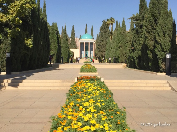 Grand approach to Saadi's mausoleum