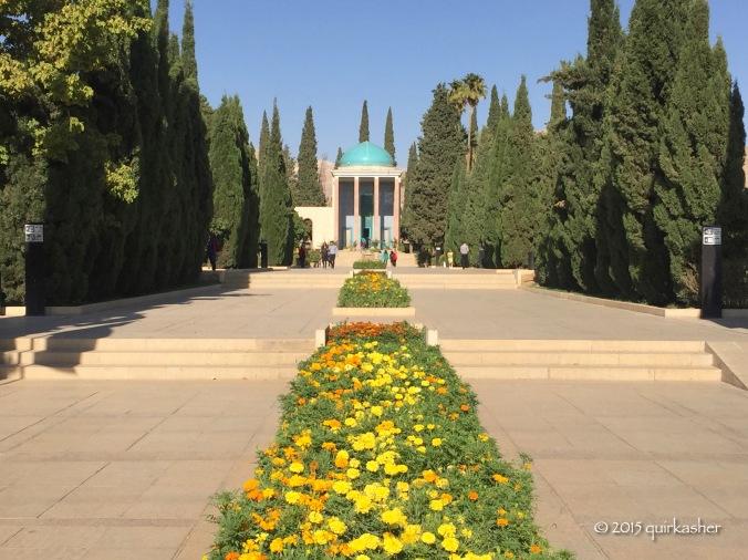 Grand approach to Saadi's mausoleum